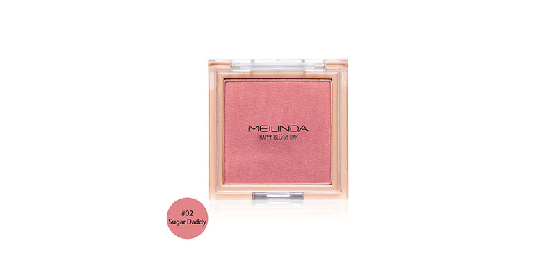 Mei Linda Happy Blush Bar 3g #02 Sugar Daddy