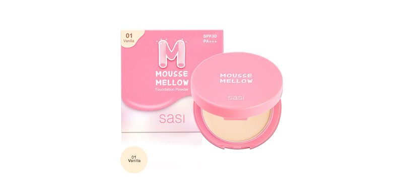 SASI Mousse Mellow Foundation Powder 8.5g #01 Vanilla