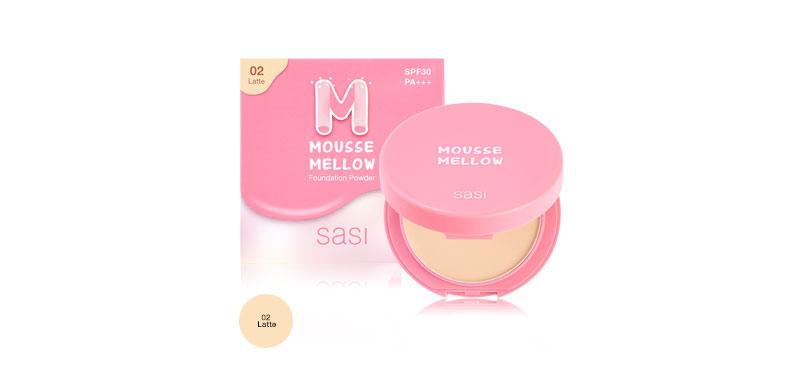 SASI Mousse Mellow Foundation Powder 8.5g #02 Latte