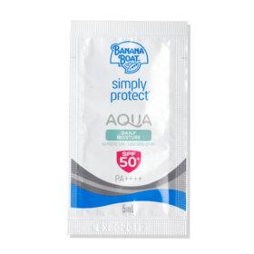 ฟรี! Banana Boat Simply Protect Aqua Daily Moisture UV Protection Sunscreen Lotion SPF50+/PA++++ [5ml x 2pcs] (1 ชิ้น / 1 ออเดอร์) เมื่อช้อปสินค้า Banana Boat อย่างน้อย 1 ชิ้น