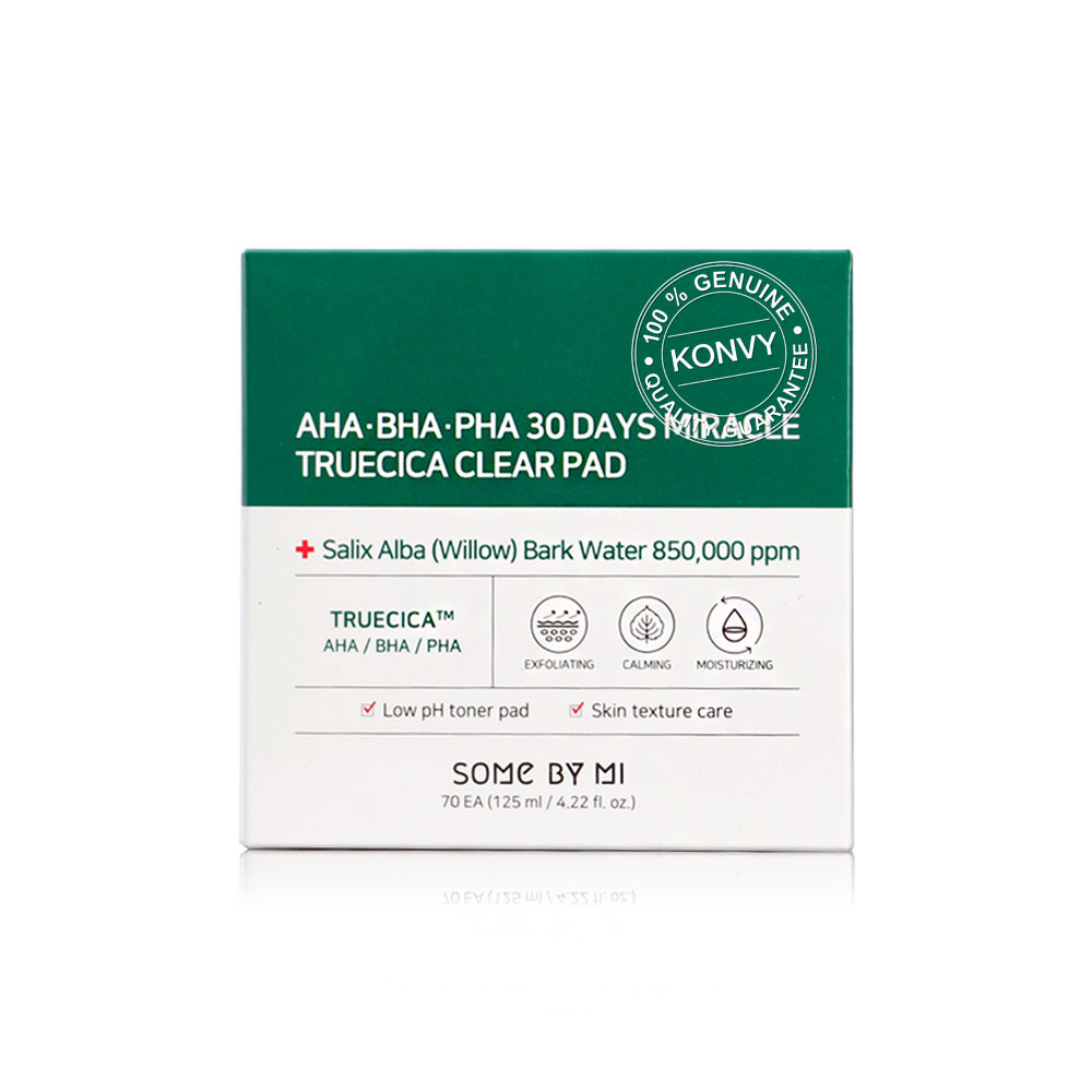 Some By Mi AHA-BHA-PHA 30Days Miracle Truecica Clear Pad 70pcs