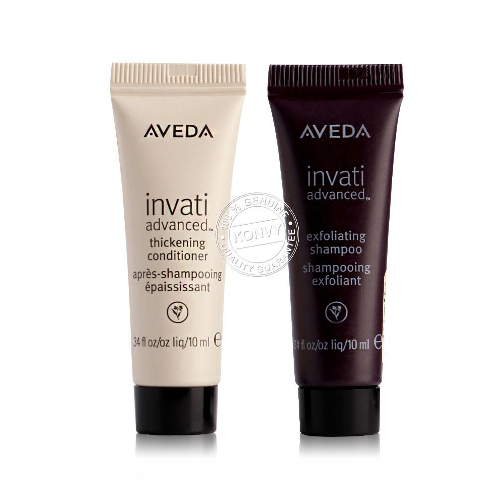 แพ็คคู่ Aveda Advanced Exfoliating Shampoo + Thickening Conditioner (10ml x 2pcs)