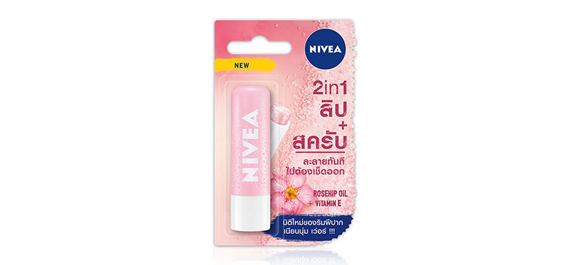 NIVEA Lip Scrub Soft Rosehip Oil + Vitamin E 4.8g