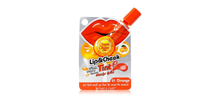 Chupa Chups Liptint & Cheek Candy Mousse 3g #01 Orange