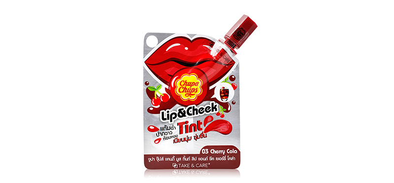 Chupa Chups Liptint & Cheek Candy Mousse 3g #03 Cherry Cola