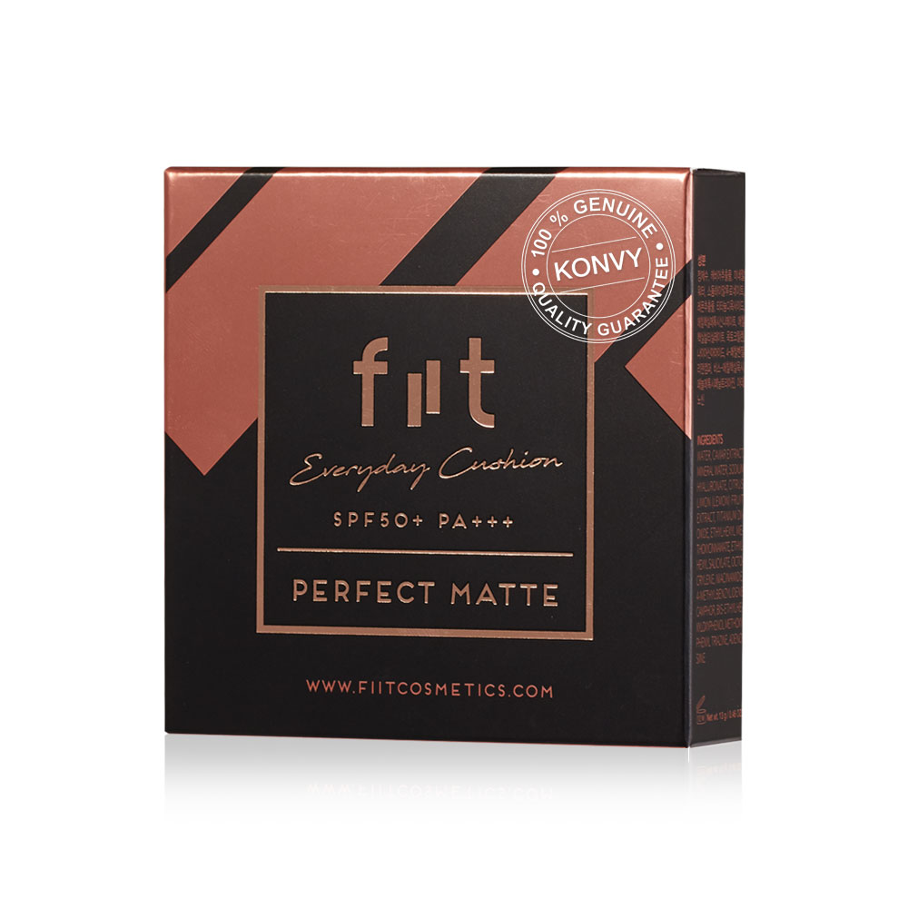 [แพ็คคู่] FIIT Everyday Cushion Perfect Matte SPF50+/PA+++ #02 Iced Cappuccino (13g x 2pcs)