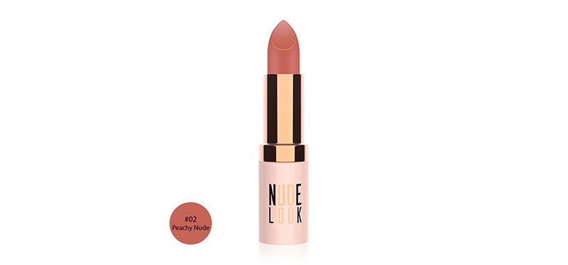 Golden Rose Nude Look Perfect Matte Lipstick 4.2g #02 Peachy Nude