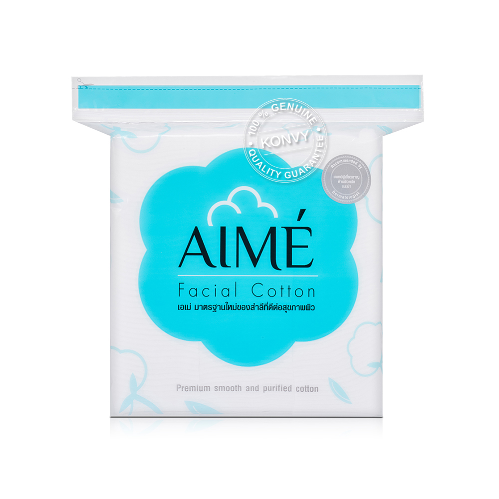 Aime Set 2 Items Facial Cotton 150pcs + Cotton Towel 20pcs