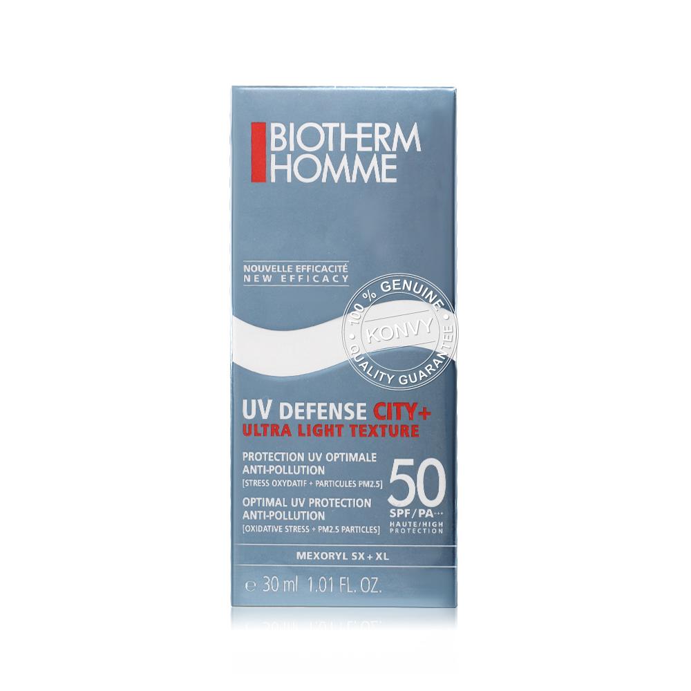 Biotherm Homme UV Defense City+ Ultra Light Texture SPF50/PA+++ 30ml