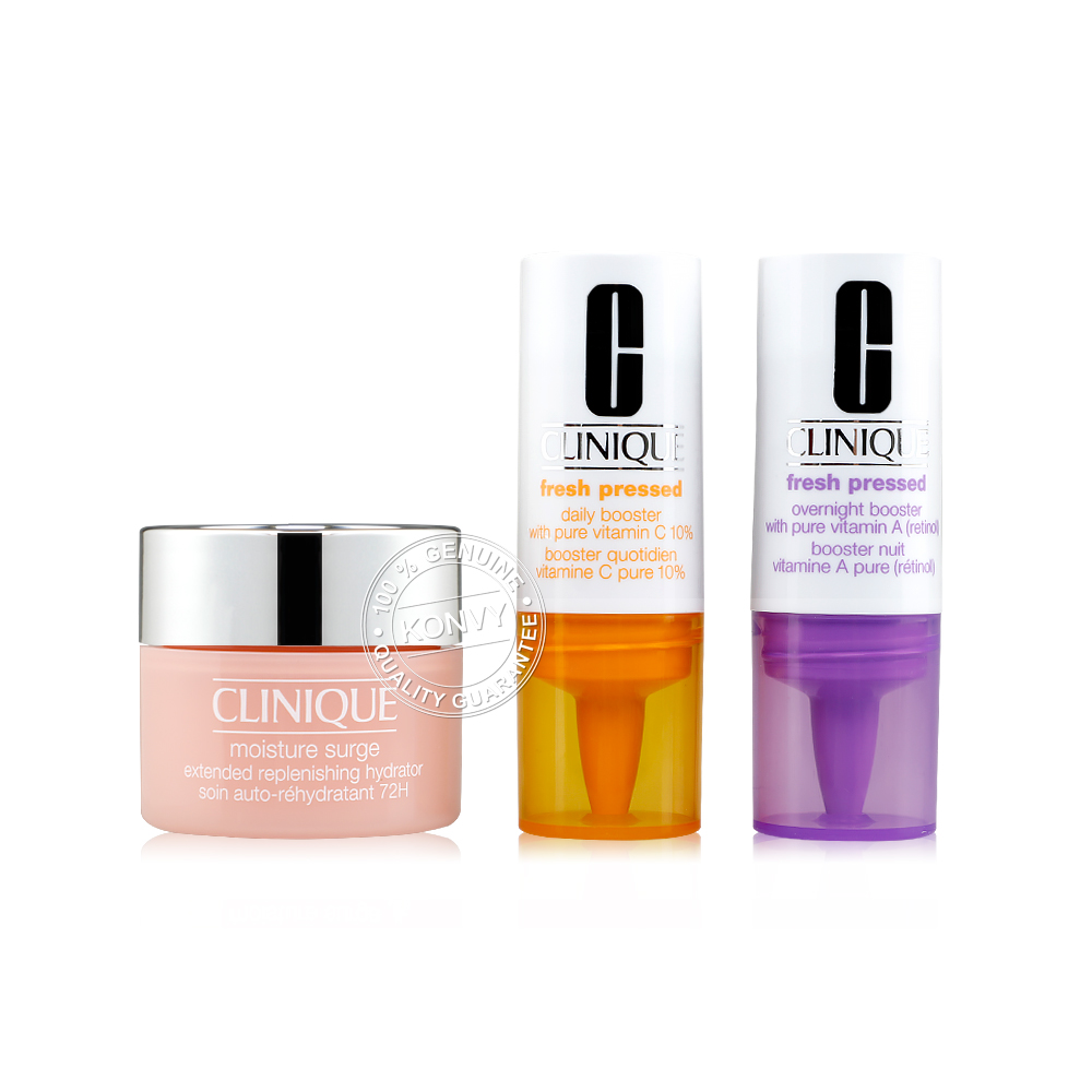 Clinique Set Fresh Pressed + Moisture SurgeGel Cream 72H #KNE1