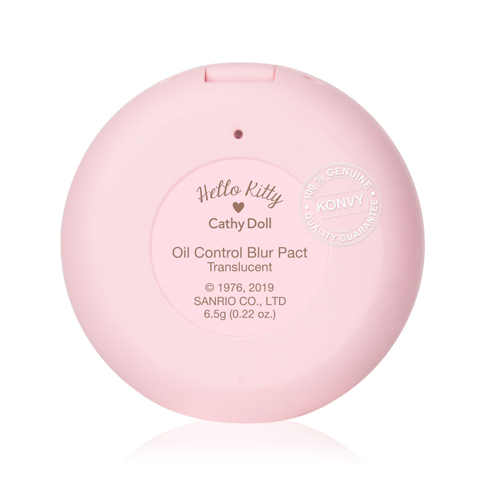Cathy Doll Hello Kitty Oil Control Blur Pact Translucent 6.5g