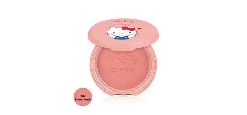 Cathy Doll Hello Kitty Cotton Shine Blusher 6.5g #02 Frozen Peach