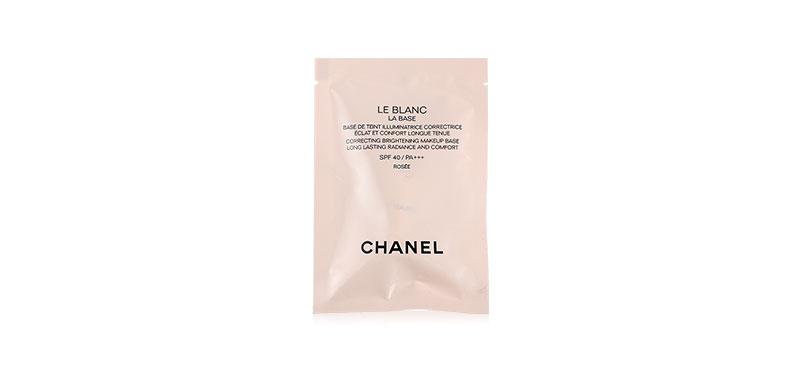 Chanel Le Blanc La Base Correcting Brightening Makeup Base Long Lasting Radiance And Comfort SPF 40/PA+++ 2.5ml #Rosee