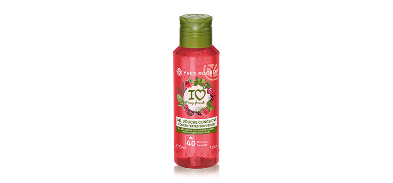 Yves Rocher Energizing Raspberry Peppermint Concentrated Shower Gel 100ml