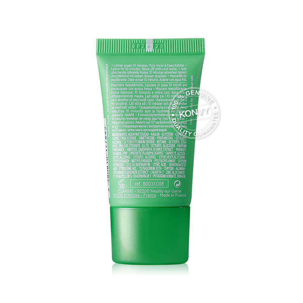 Clarins SOS Pure Rebalancing Clay Mask With Alpine Willow Herb Extract 15ml