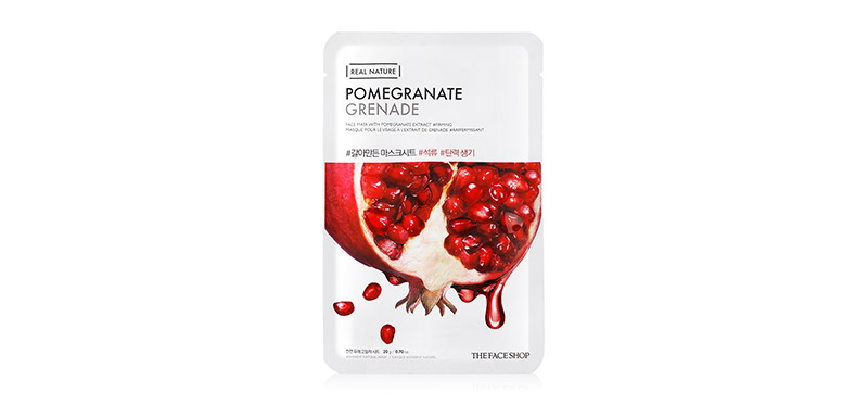The Face Shop Real Nature Pomegranate Face Mask 20g