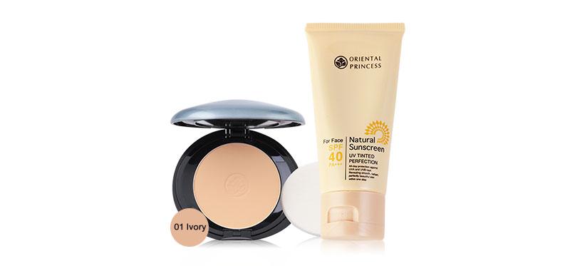 Oriental Princess Set 2 Items UV Tinted Pefection SPF40/PA+++ 50g + Benificial Sun Protection Foundation Powder 11g #01 Ivory