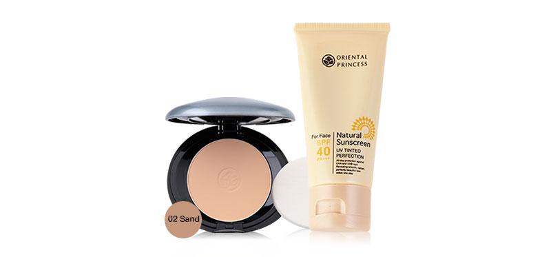 Oriental Princess Set 2 Items UV Tinted Pefection SPF40/PA+++ 50g + Benificial Sun Protection Foundation Powder 11g #02 Sand