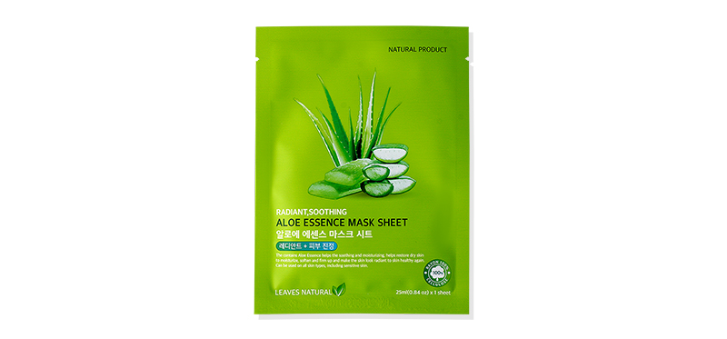 Leaves Natural Aloe Essence Mask Sheet 25ml