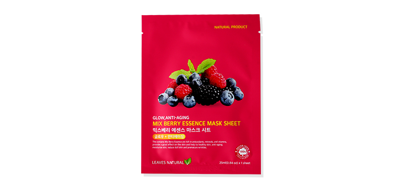 Leaves Natural Mix Berry Essence Mask Sheet 25ml