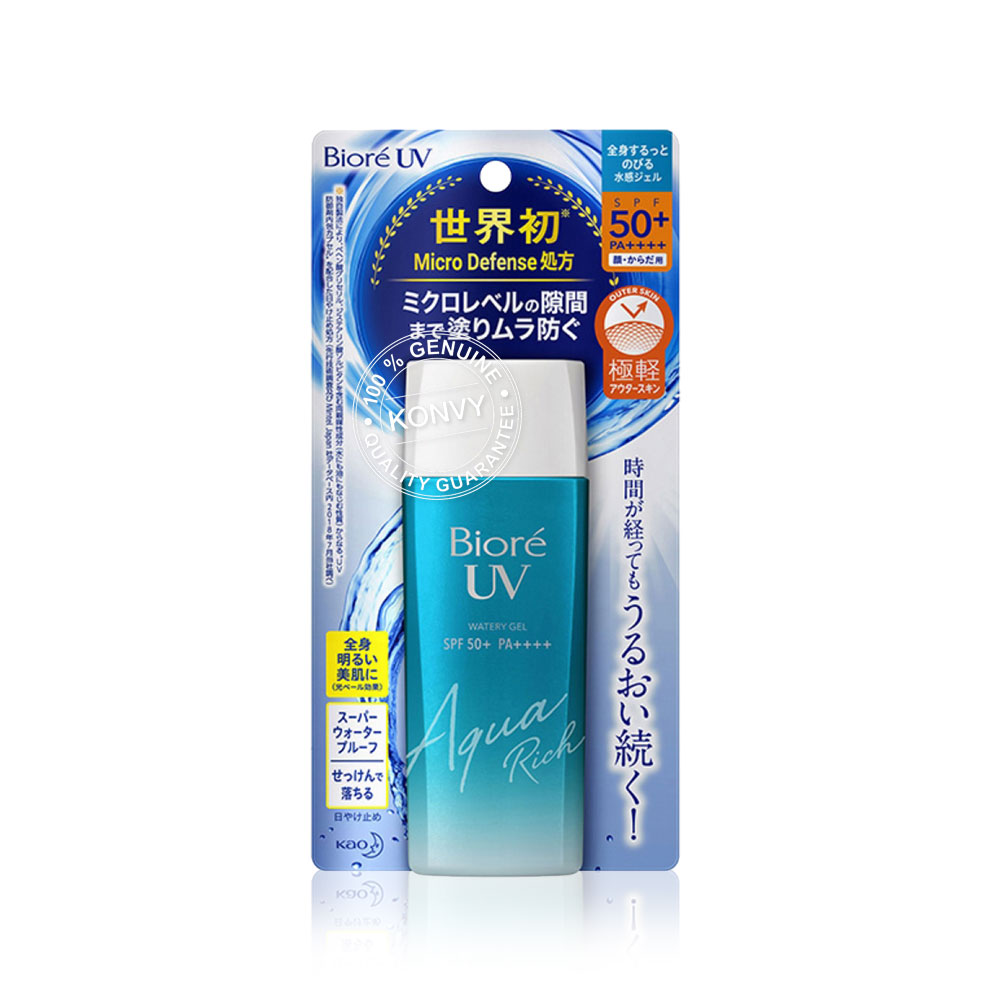 Biore UV Aqua Rich Watery Gel SPF 50+/PA++++ 90ml