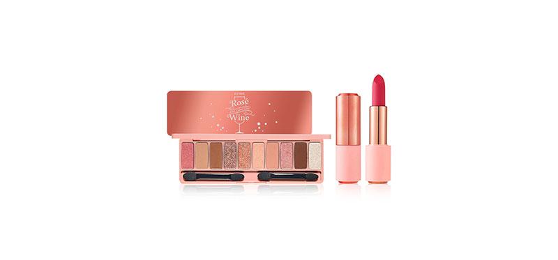 Etude House Set 2 Items Play Color Eyes #Rose Wine + Rose Better Lips-Talk Velvet 4.5g #RD313