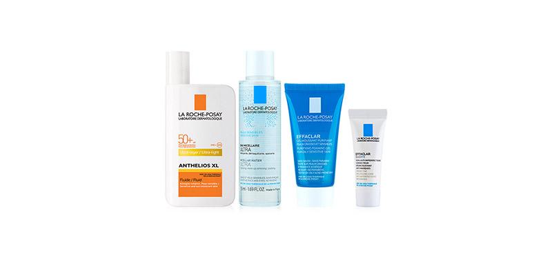La Roche Posay Sun Protection for Mixed Skin Set [Ultra-Light Fluid SPF50+ 50ml + Micellar for Sensitive Skin 50ml + Effaclar Ge ( สินค้าหมดอายุ : 2022.01 )