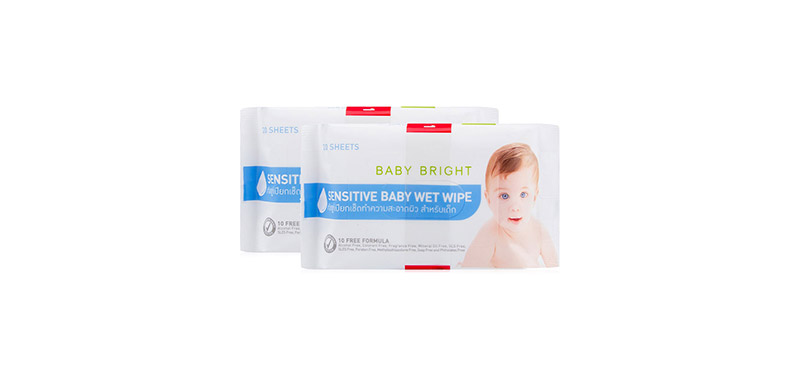 [แพ็คคู่] Baby Bright Sensitive Baby Wet Wipe [20 Sheets x 2pack]