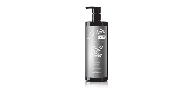 BeNice Men Perfume Shower Cream Light Silver 450ml