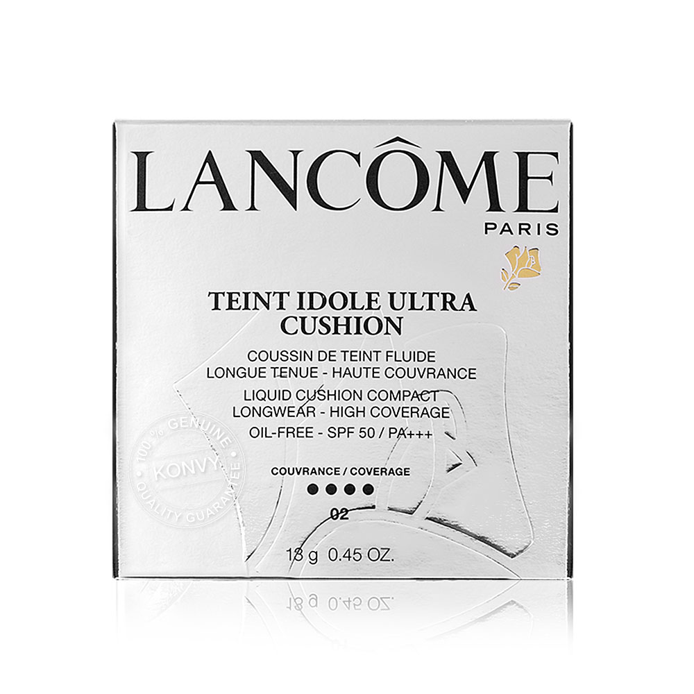 Lancome Teint Idole Ultra Cushion Longwear-High Coverage Oil-Free SPF 50/PA+++ 13g #02