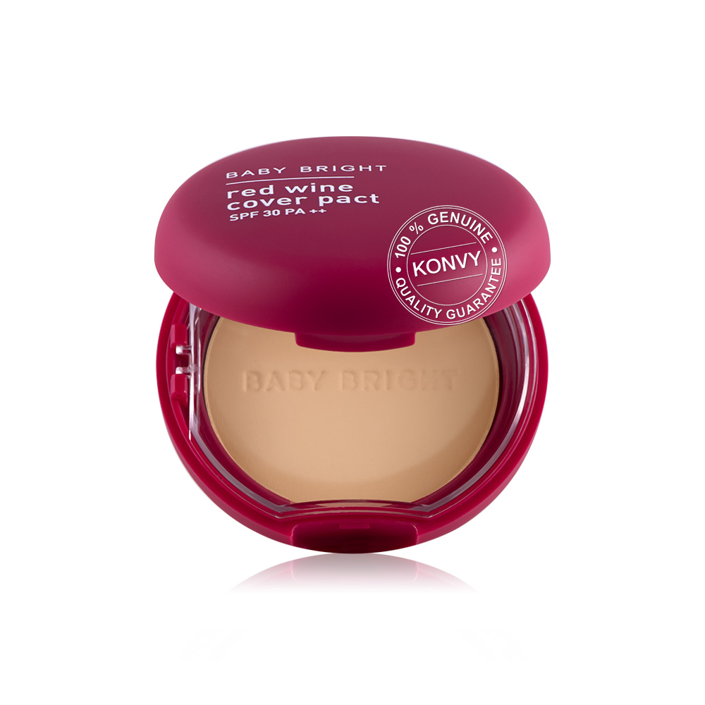 Baby Bright Red Wine Cover Pact SPF30 PA++ 6.5g #23 Medium Beige