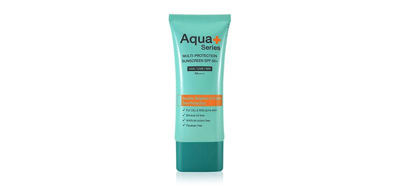 Aqua+ Series Multi-Protection Sunscreen SPF50/PA++++ 50ml #Natural