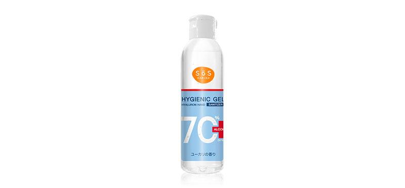 เจลแอลกอฮอล์ SOS Esuoesu Hygienic Gel Hyaluron Hand Sanitizer 70ml