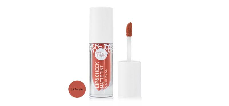 Baby Bright Lip & Cheek Matte Tint 2.4g #14 Paprika