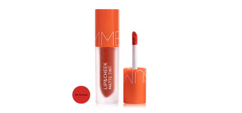 Baby Bright Summer Lip & Cheek Matte Tint Limited Edition 2.4g #06 Sunset