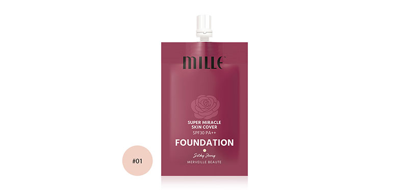 Mille Super Miracle Skin Foundation SPF30/PA++ 6g #01