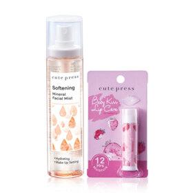 ฟรี! Cute Press Set 2 Items Baby Kiss Lip Care 4g #01 Strawberry  + Softening Mineral Facial Mist 100ml (1 ชิ้น / 1 ออเดอร์ ) เมื่อช้อปสินค้า Cute Press ครบ 299-398.-