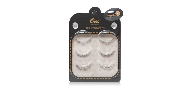 Oni Lightweight Artificial False Eyelash 3 Pairs #Black [9044]