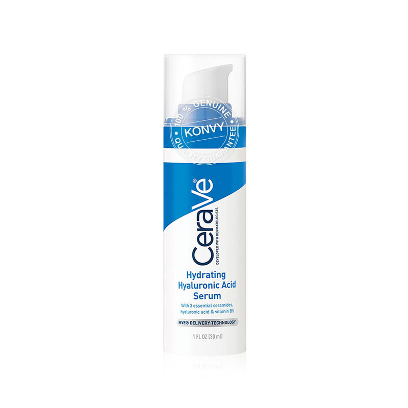 [ซื้อ1แถม1] CeraVe Hydrating Hyaluronic Acid Serum 30ml [Free! Moisturising Cream 7ml]