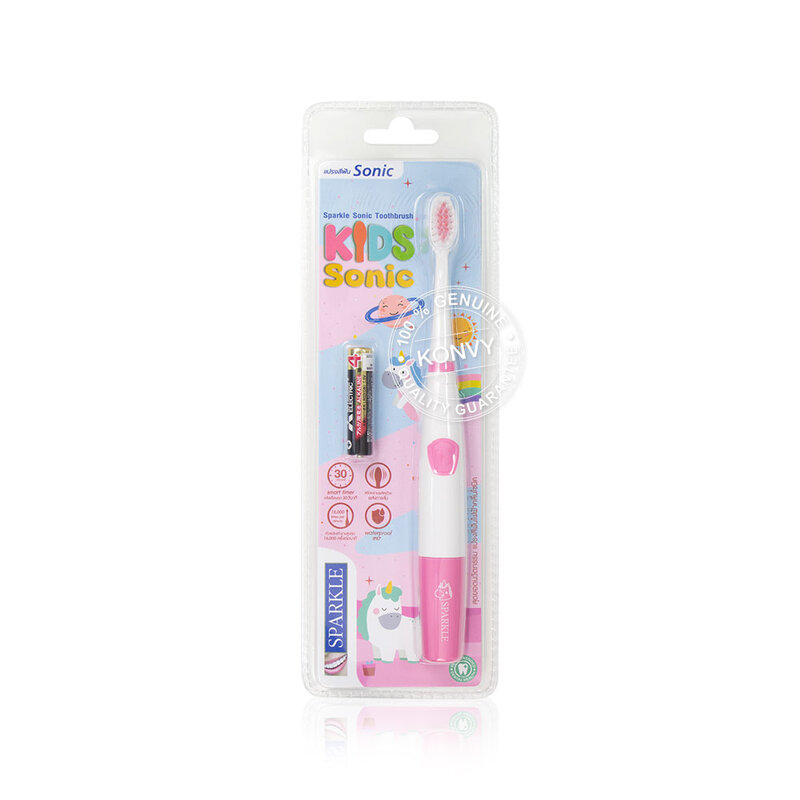 Sparkle Set 2 Items Sonic Toothbrush Kids Sonic [Pink] [SK0469] + Refill [Pink] [SK0471]