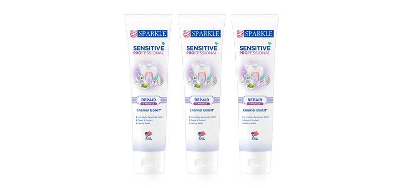 [แพ็คสาม] Sparkle Sensitive Professional Toothpaste [100g x 3pcs] [SK0390]