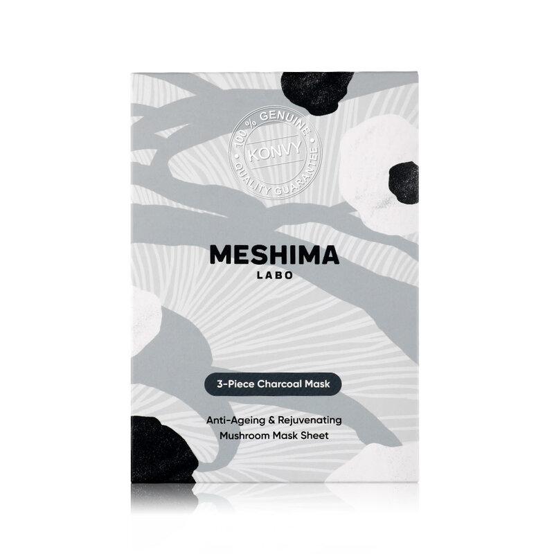 Meshima Labo Eyes-Cheeks-Neck Charcoal Mask 3pcs