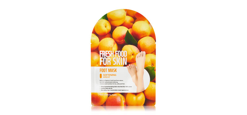 FARM SKIN Fresh Food For Skin Foot Mask Softening Apricot 2 Sheets