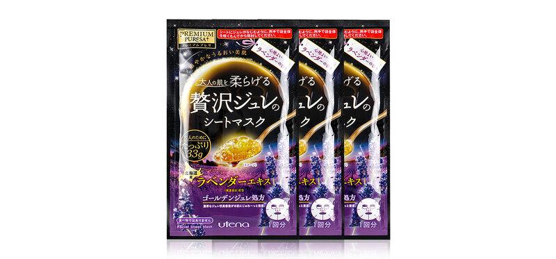 UTENA Premium Puresa Golden Jelly Mask #LA [33g x 3 Sheets]