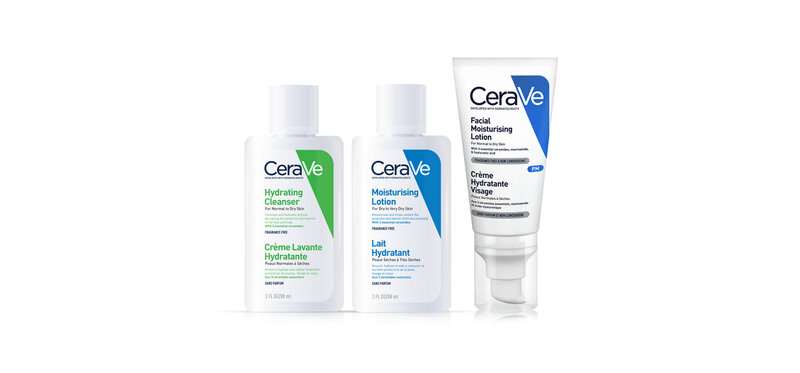 CeraVe Set 3 Items Hydrating Cleanser 88ml + Moisturising Lotion 88ml + Facial Moisturizing Lotion 52ml