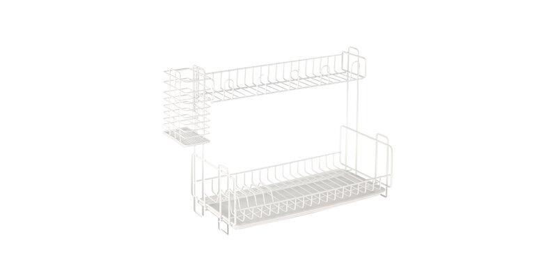 NaChuan Tableware Storage Rack #White [A0169]
