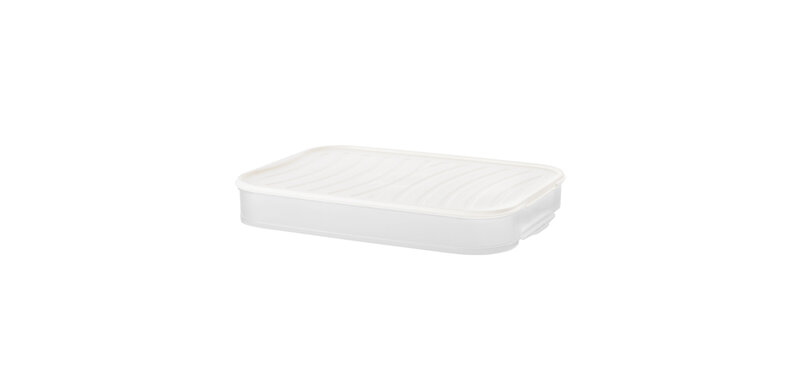 NaChuan Single Layer Dumpling Storage Box #White [A0293-GA]