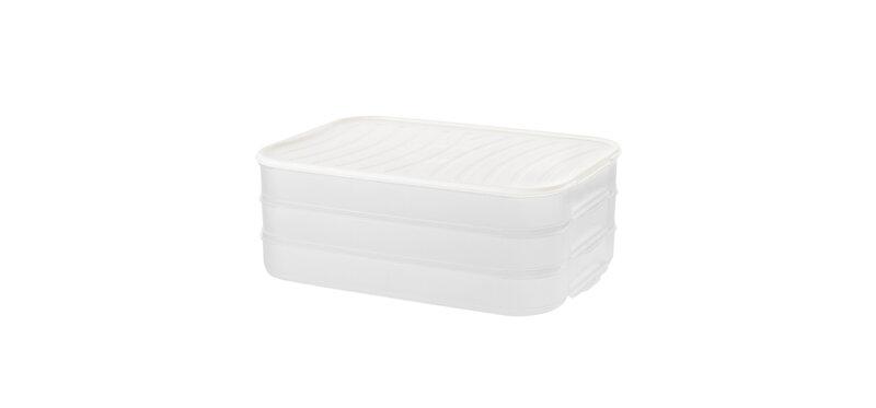 NaChuan Three Layer Dumpling Storage Box #White [A0293-GB]