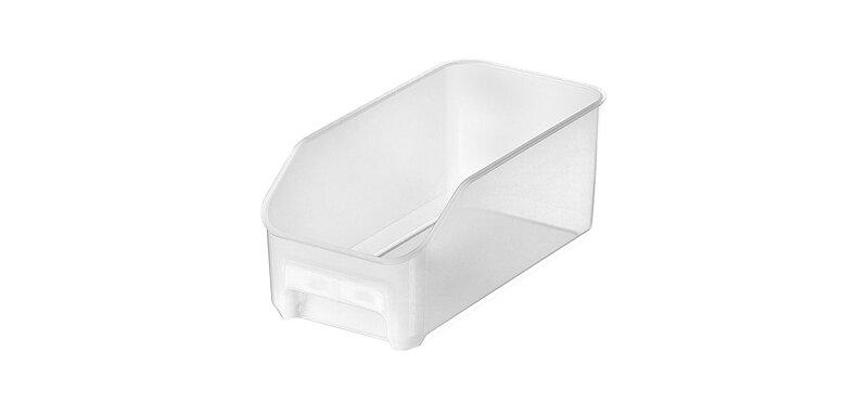NaChuan Refrigerator Fruit and Vegetable Storage Box #Transparent Matte White[A0402]