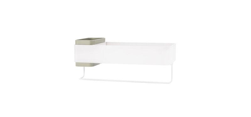 NaChuan Bathroom Shelf #White Green [A0273]